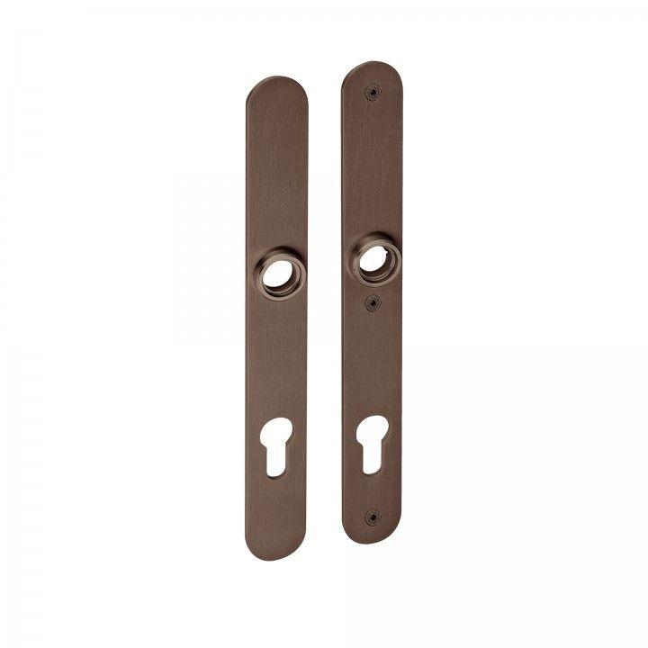 Placa de securidad para bombillo europeo - Titanium Chocolate