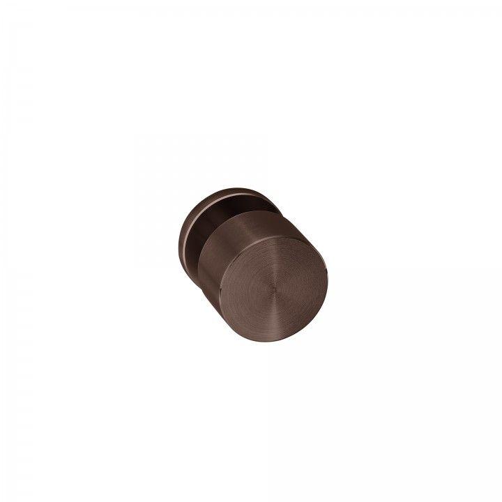 Pomo de puerta Clean Simple, con roseta metalica RC08M TITANIUM CHOCOLATE