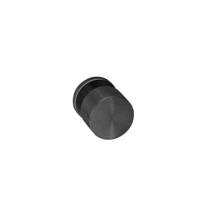 Pomo de puerta Clean Simple, con roseta metalica RC08M TITANIUM BLACK
