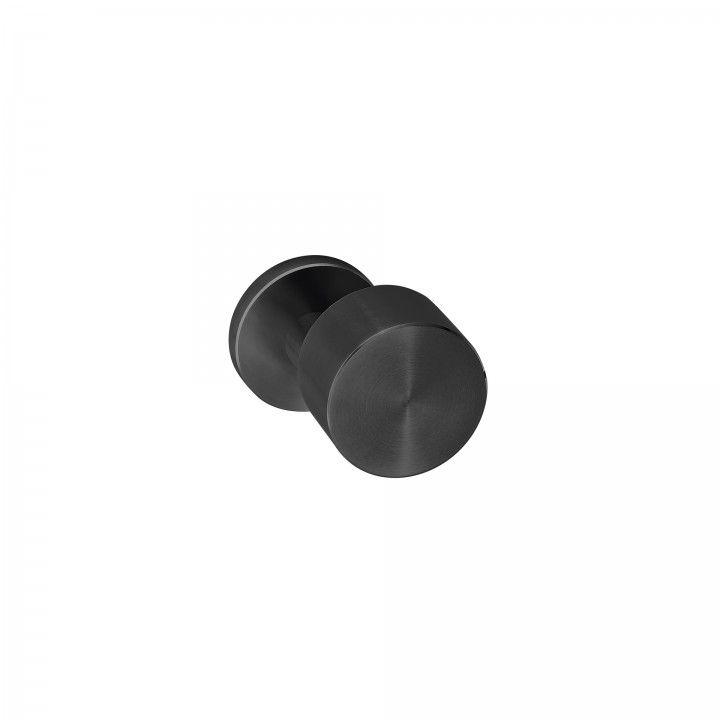 Pomo fijo Clean Descentered - Titanium Black
