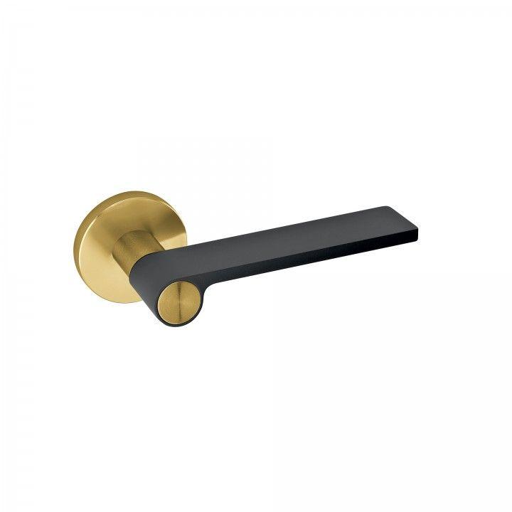 Manilla de puerta Outline Dark Gray - Titanium Gold