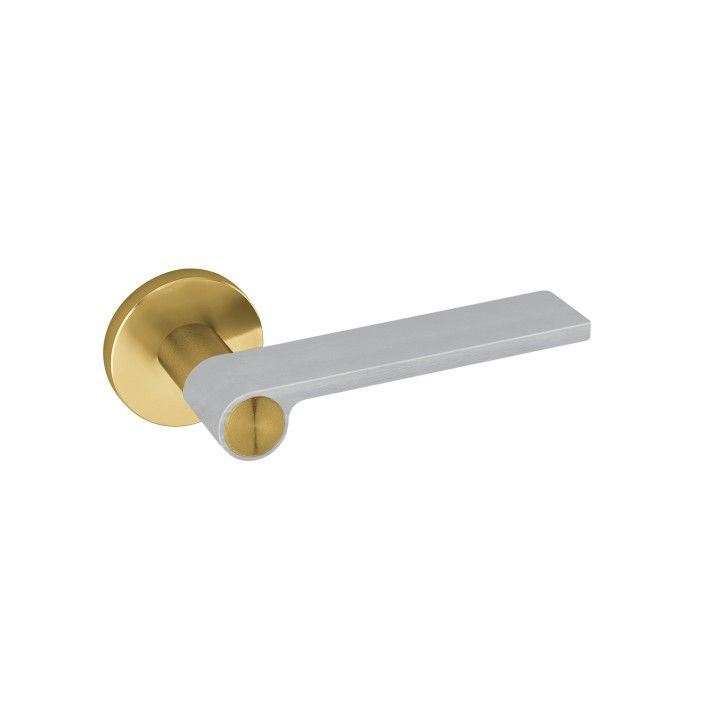 "Puxador de porta ""Outline Light Gray"" - Titanium Gold"