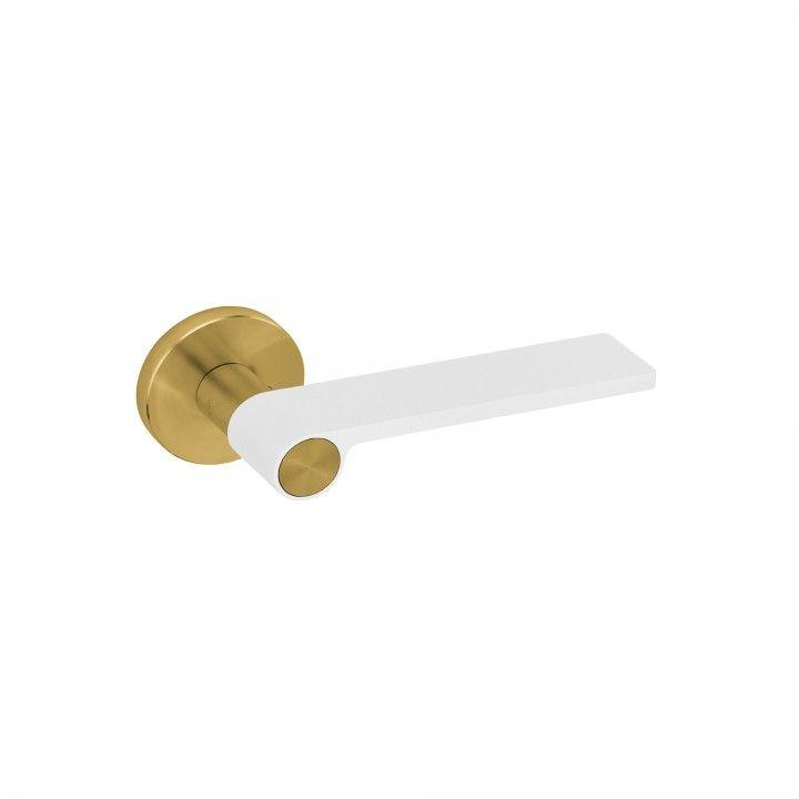 "Puxador de porta ""Outline White"" - Titanium Gold"