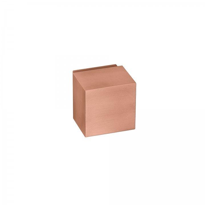 Pomo giratorio Quadro - Titanium Copper