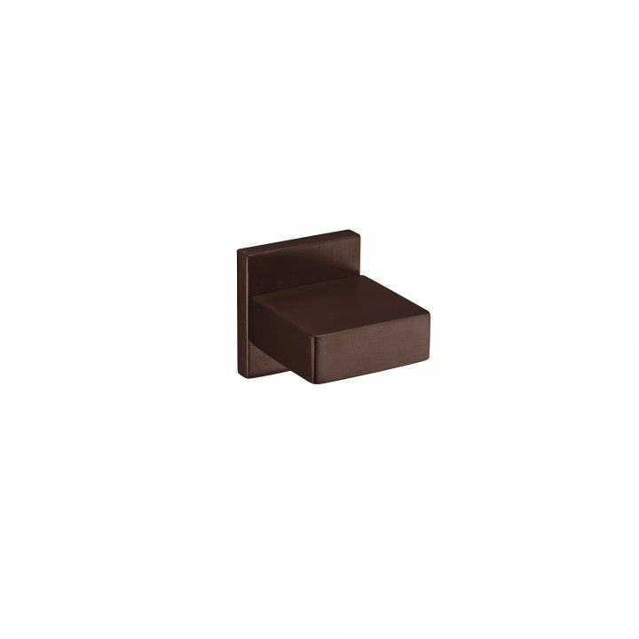 Fixed knob Quadro - Titanium Chocolate