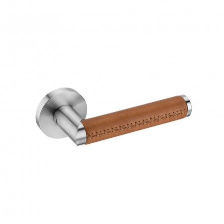 Lever handle LINK LEATHER without rose
