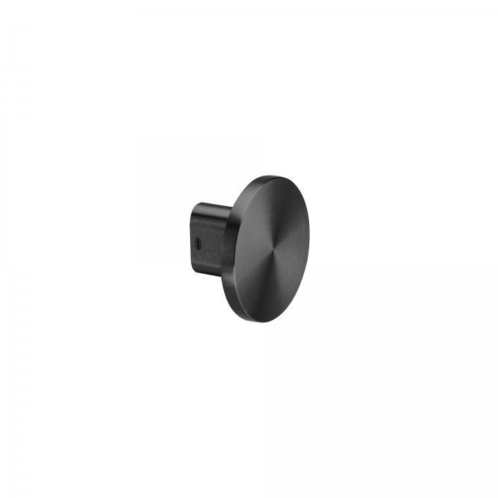 Puxador de porta fixo - Ø100mm - Titanium Black