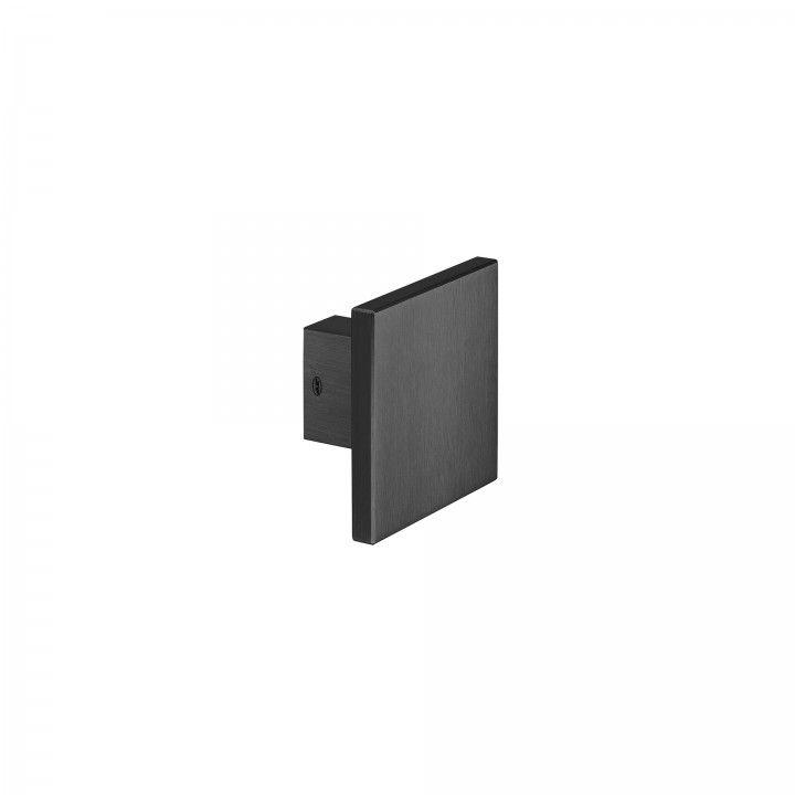 Puxador de porta fixo - 100x100mm - Titanium Black