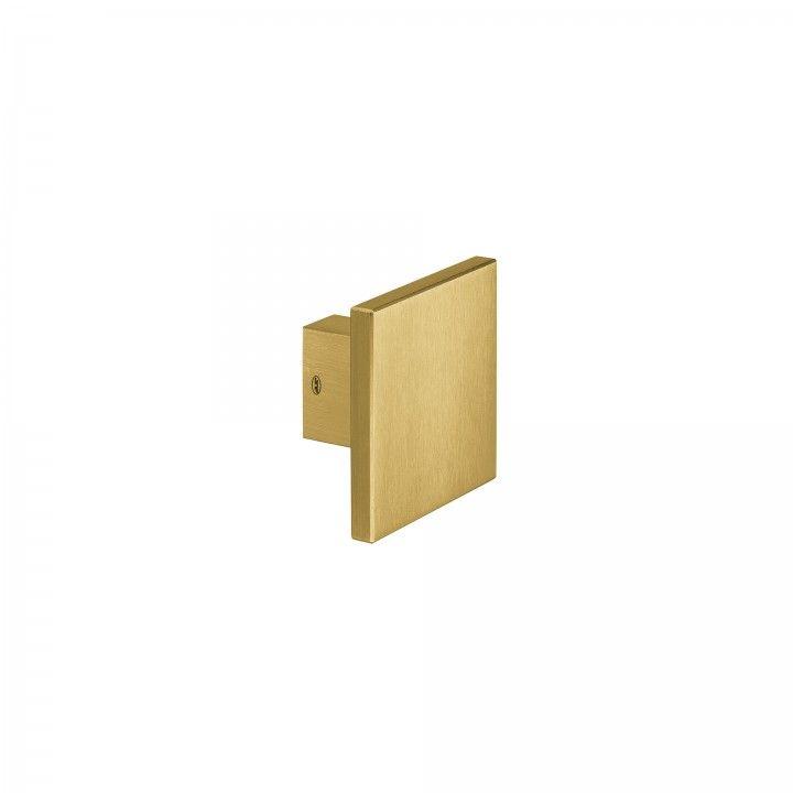 Puxador de porta fixo - 100x100mm - Titanium Gold
