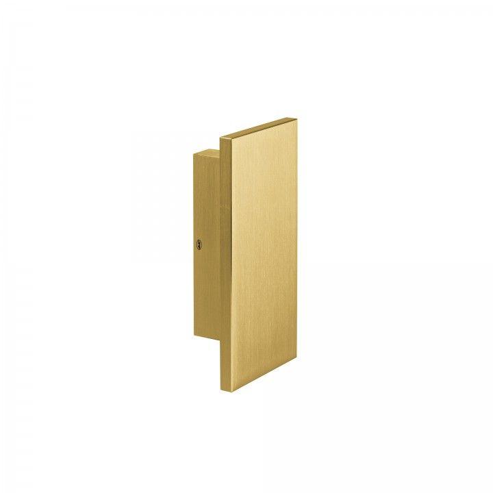 Puxador duplo de porta fixo - Titanium Gold
