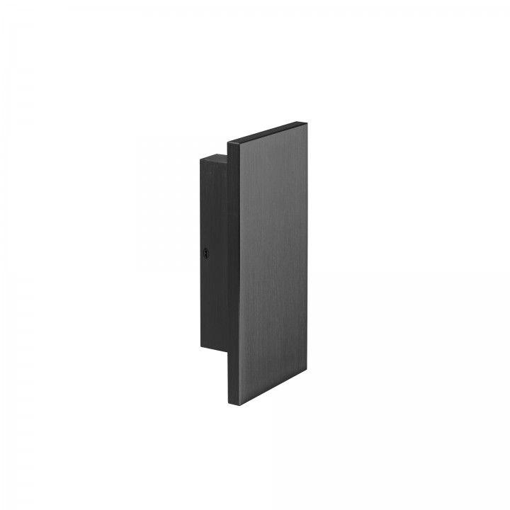 Puxador duplo de porta fixo - Titanium Black