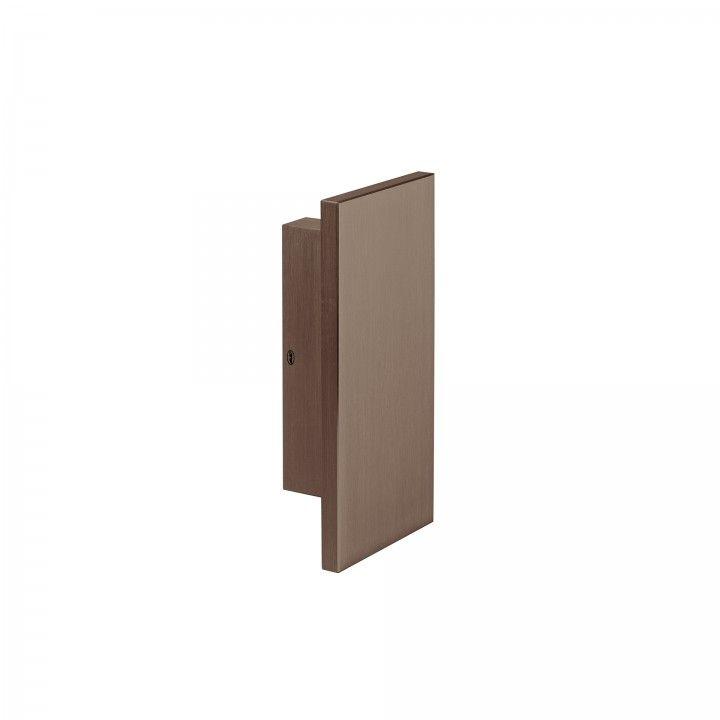 Puxador duplo de porta fixo - Titanium Chocolate