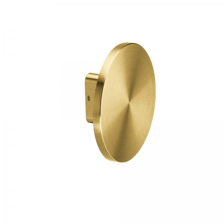 Puxador duplo de porta fixo - Ø200mm - Titanium Gold