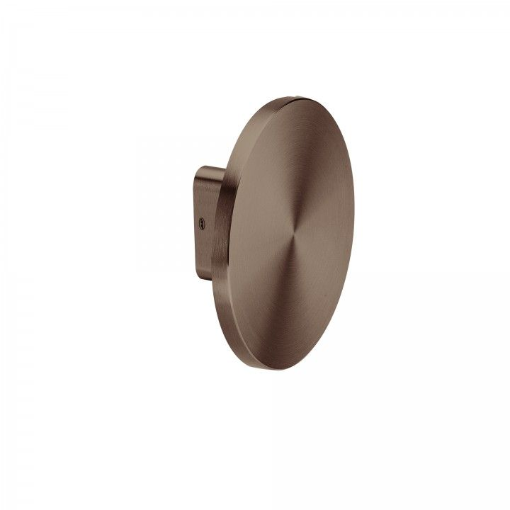 Doble Pomo fijo - Ø200mm - Titanium Chocolate
