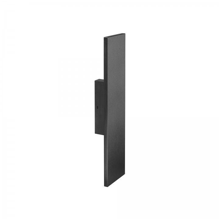 Puxador de porta fixo - 100x400mm - Titanium Black