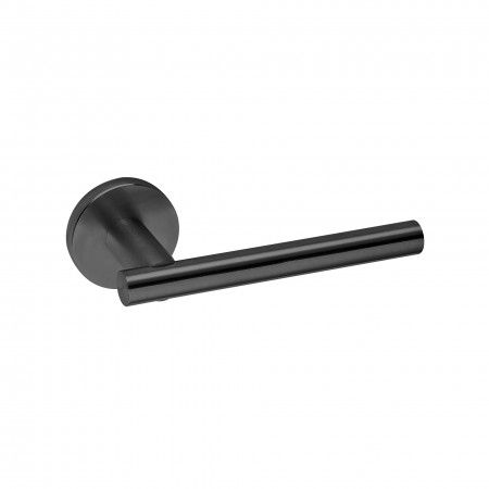Lever handle with metallic rose RC08M - Titanium Black