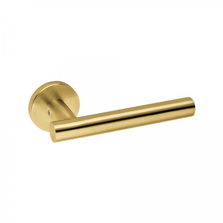 Puxador de porta com roseta metálica RC08M - Titanium Gold