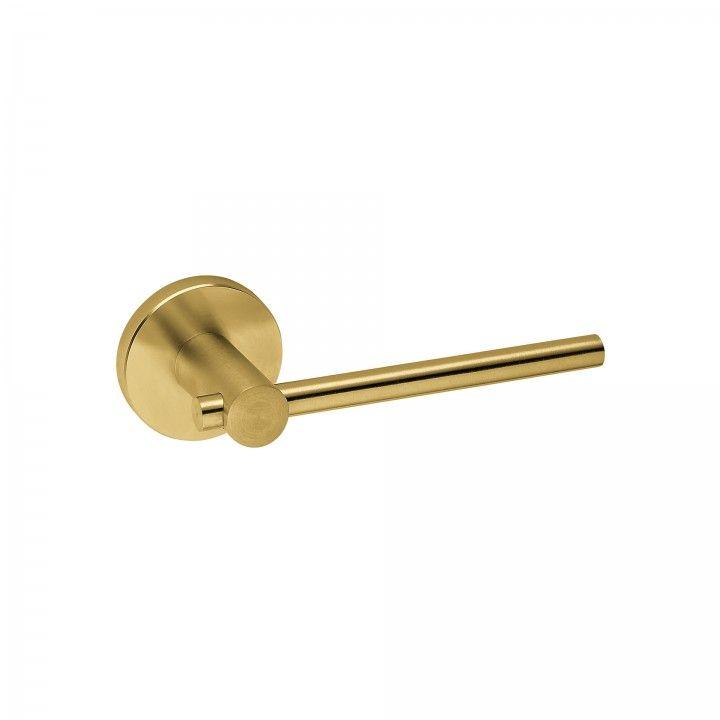 Lever handle with metallic rose RC08M - Titanium Gold