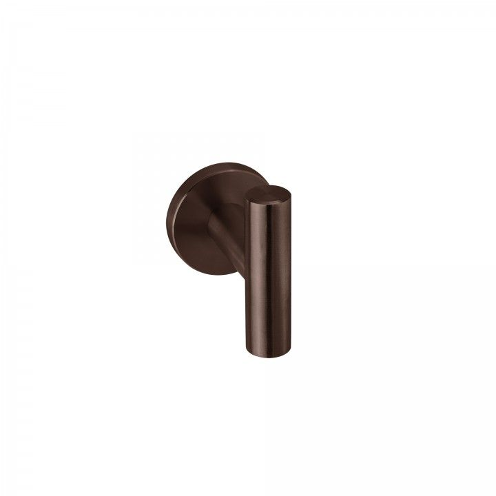 Lever handle with metallic rose RC08M - Titanium Chocolate