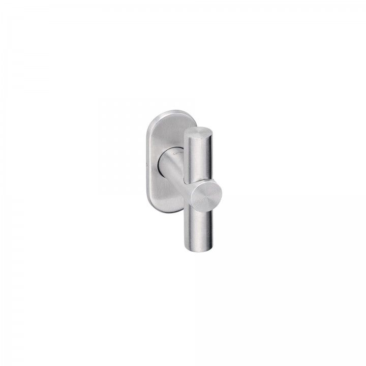 Manilla de puerta con roseta Oval metalica 4mm - CC43mm
