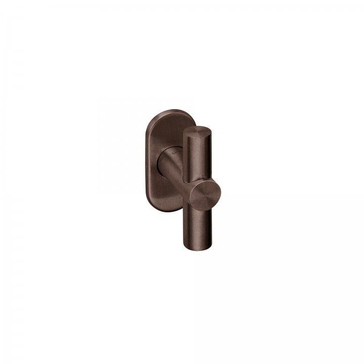 Lever handle with metallic rose RC08M - Titanium Chocolate