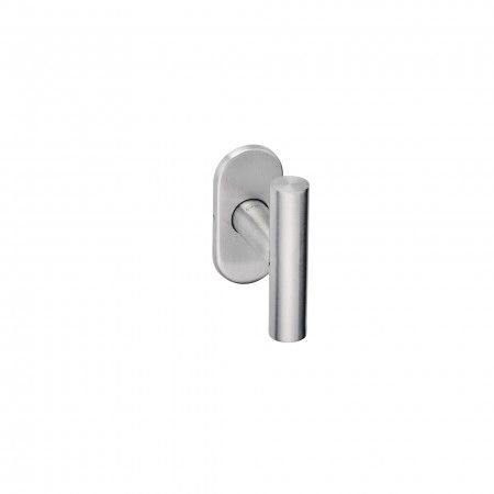 Lever handle with Oval metallic rose 4mm - CC43mm