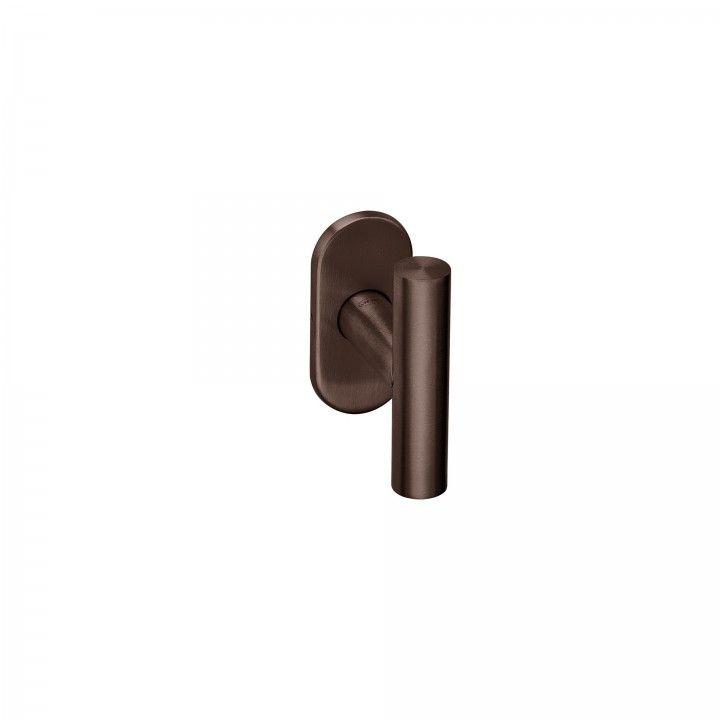 Manilla de puerta con roseta Oval metalica 4mm - Titanium Chocolate