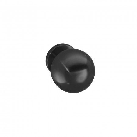 Fixed door knob - Ø65mm - Titanium Black
