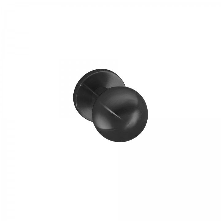 Fixed door knob - Ø50mm - Titanium Black