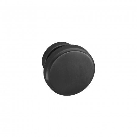 Fixed door knob - Ø70mm - Titanium Black