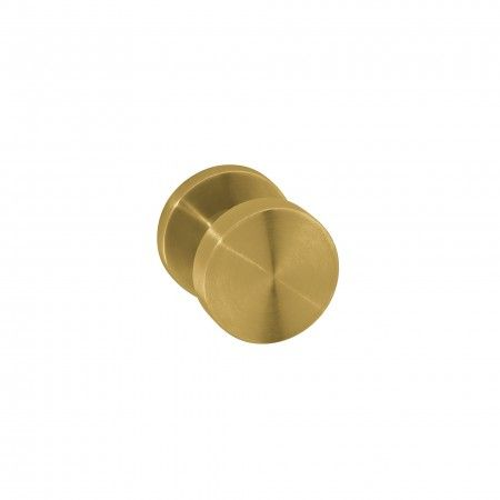 Fixed door knob - Ø50mm Titanium Gold