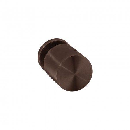 Fixed door knob - Ø50mm - Titanium Chocolate
