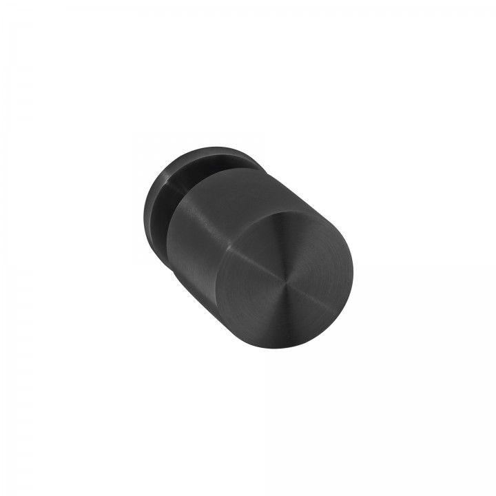 Fixed door knob - Ø50mm - Titanium Black