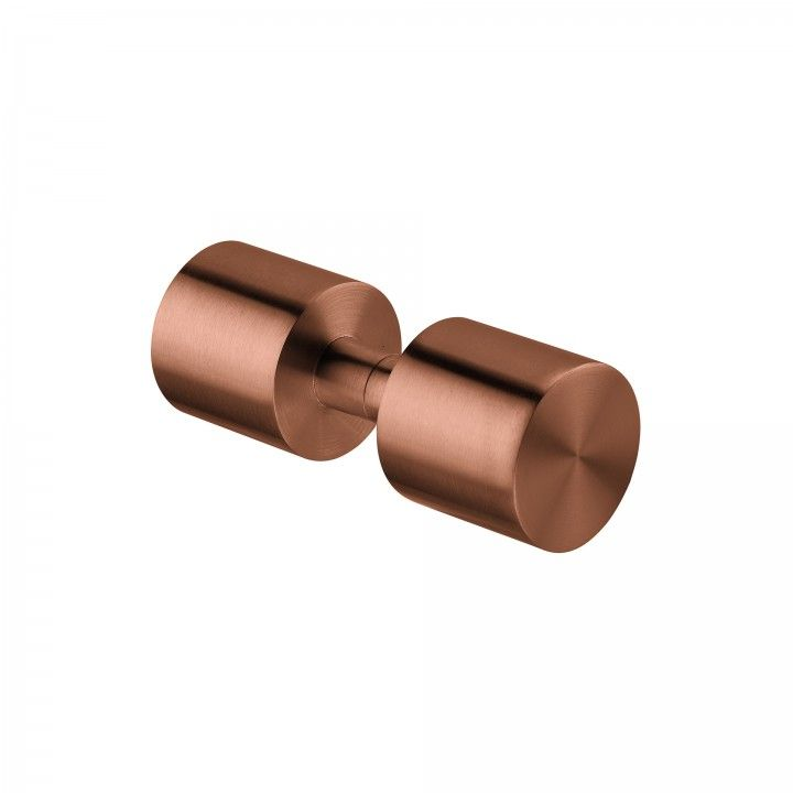 Fixed knob for glass doors - Ø50mm - Titanium Copper