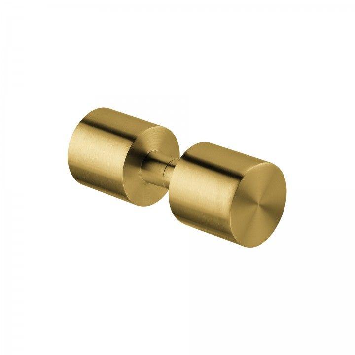 Fixed knob for glass doors - Ø50mm - Titanium Gold