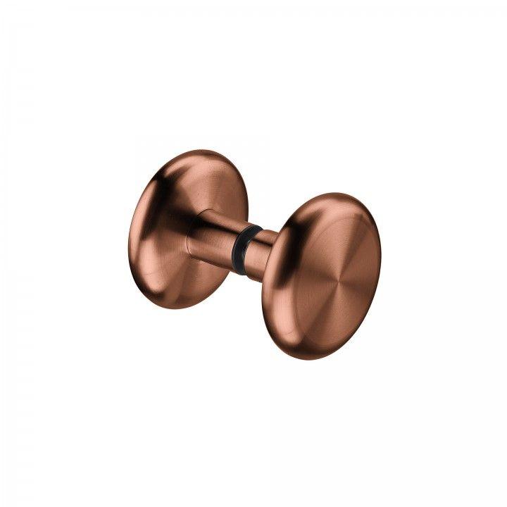 Puxador fixo para porta de vidro- Ø70mm - Titaniu Copper
