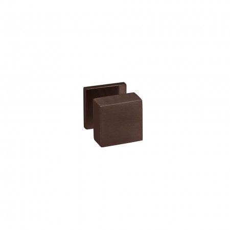 Fixed door knob Quadro - 50x50mm - Titanium Chocolate