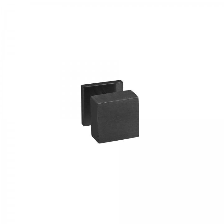 """Puxador de porta fixo """"Quadro"""" - 50x50mm - Titanium Black"""