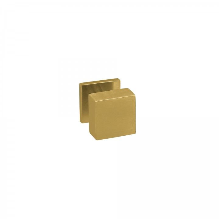"""Puxador de porta fixo """"Quadro"""" - 50x50mm - Titanium Gold"""