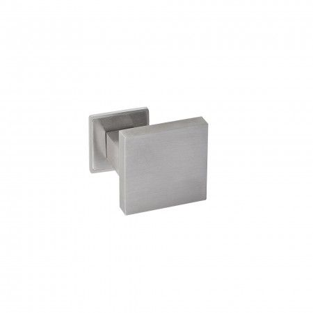Fixed door knob - 70x70mm - with fixed square rose IN08BQP