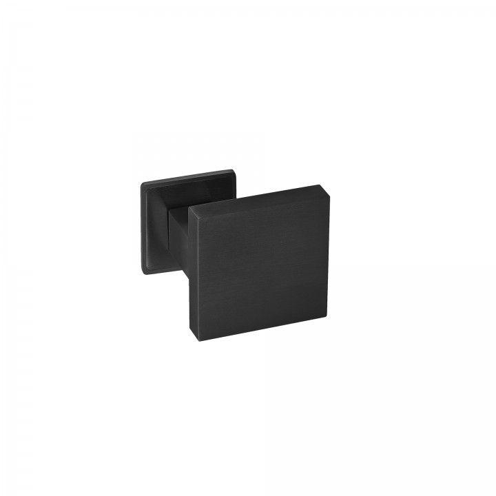Fixed door knob - 70x70mm - Titanium Black