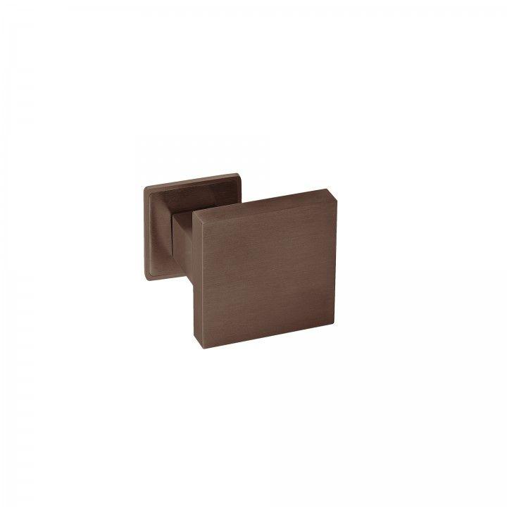 Fixed door knob - 70x70mm - Titanium Chocolate