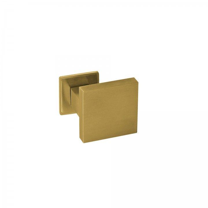 Pomo Fijo - 70x70mm - Titanium Gold