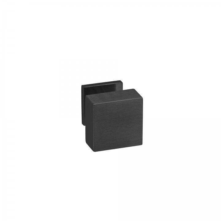 Pomo Fijo Quadro - 70x70mm - Titanium Black