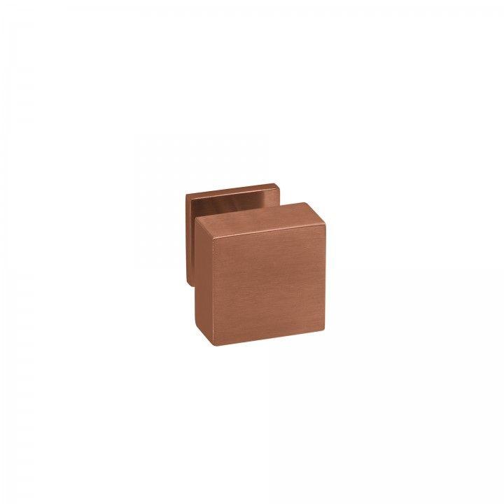 """Puxador de porta fixo """"Quadro"""" - 70x70mm - Titanium Copper"""