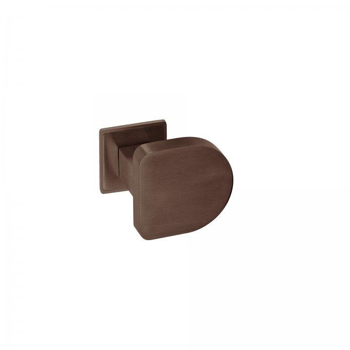 Fixed door knob - Titanium Chocolate