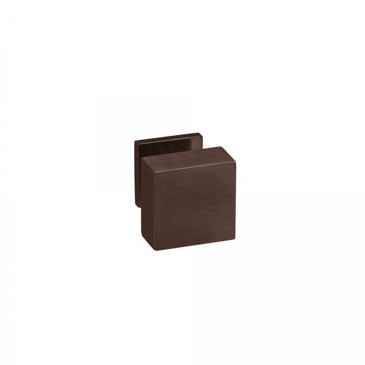 Pomo Fijo Quadro - 70x70mm - Titanium Chocolate
