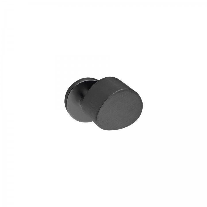 Lever handle with metallic rose RC08MS - Titanium Black