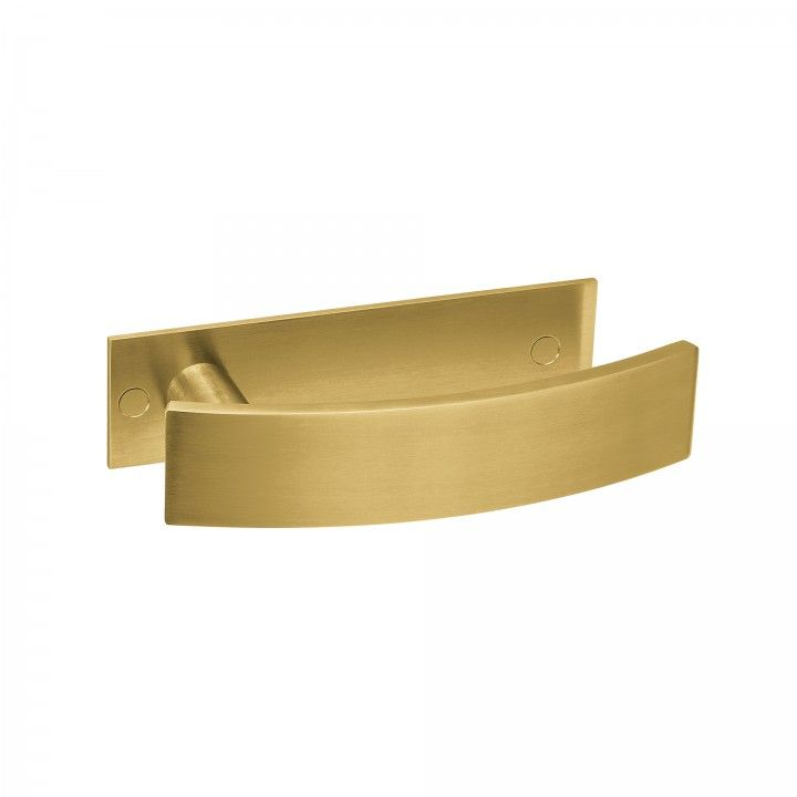 Lever handle Arch, with plate - Titanium Gold