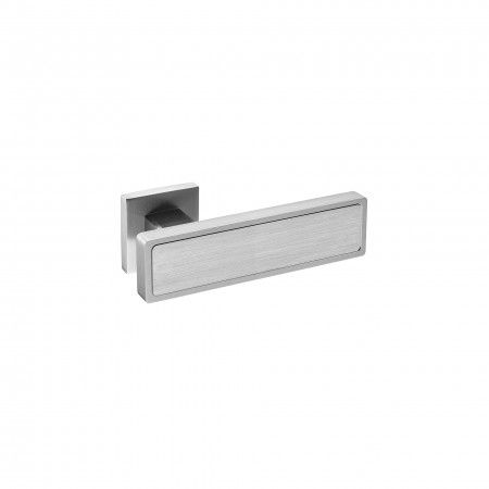 Lever handle Niquel Satin, with metallic rose